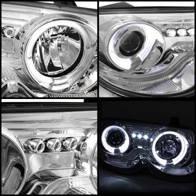 Chrysler 300m 1999 2004 Clear Dual Halo Projector Headlights With Integrated Led