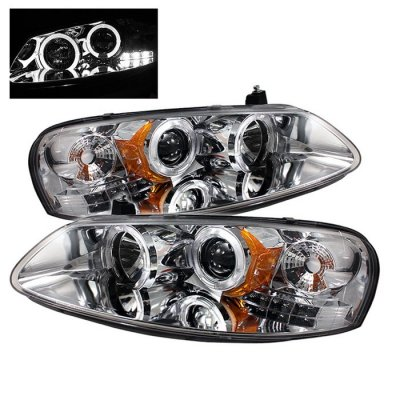 Chrysler Sebring 2001 2003 Clear Dual Halo Projector Headlights With Led A103hg7b101 Topgearautosport