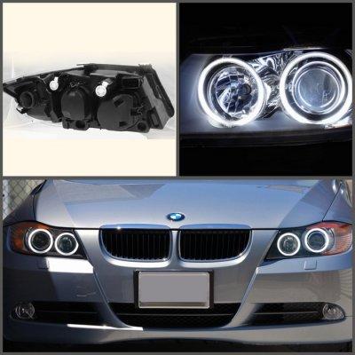 Dodge Ram Bull Bar >> BMW 3 Series Sedan 2006-2008 Black CCFL Halo Projector ...