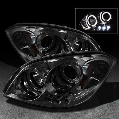 Pontiac G5 2007 2009 Smoked Halo Projector Headlights With
