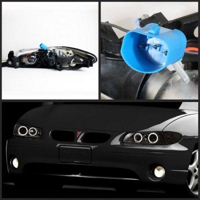 Pontiac Grand Prix 1997 2003 Smoked Halo Projector Headlights