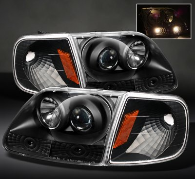 2001 Dodge Ram 2500 Bumper >> Ford Expedition 1997-2002 Black Projector Headlights and ...