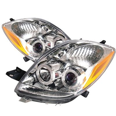 Toyota Yaris Coupe 2006-2008 Clear Dual Halo Projector Headlights with Integrated LED