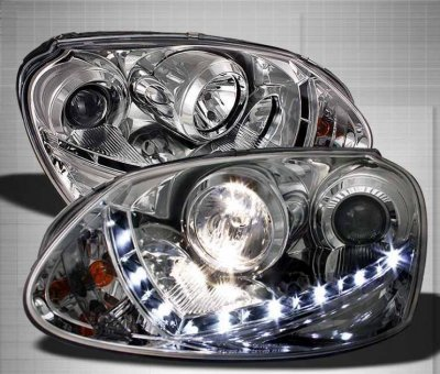 Vw Gti 2006 2009 Clear Hid Projector Headlights Led Drl A1030vkf101 Topgearautosport