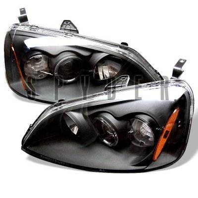 Honda Civic 2001-2003 Black Halo Projector Headlights