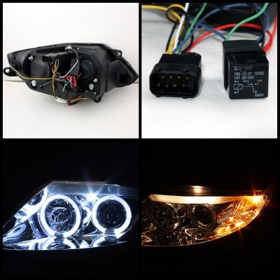 2006 BMW Z4 Clear Halo HID Projector Headlights