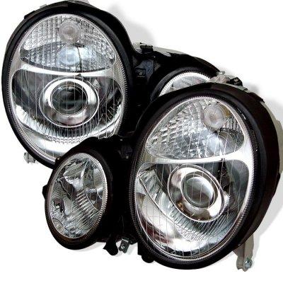 Mercedes Benz E Class 2000-2002 Clear Projector Headlights