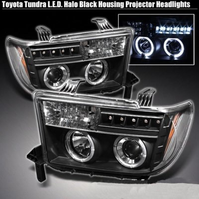 Toyota Sequoia 2008 2015 Black Dual Halo Projector