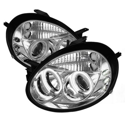 Dodge Neon 2003-2005 Clear CCFL Halo Projector Headlights with LED