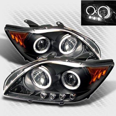Scion tC 2005-2007 Black Dual Halo Projector Headlights with LED