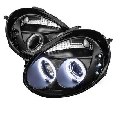 Dodge Neon 2003 2005 Black CCFL Halo Projector Headlights #1: RZQS