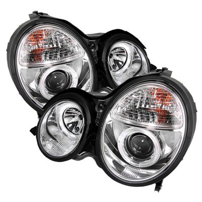Mercedes Benz E Class 2000-2002 Clear Dual Halo Projector Headlights