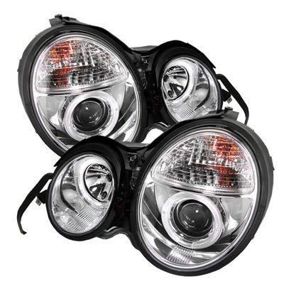 Mercedes Benz E Class 1996-1999 Clear Dual Halo Projector Headlights