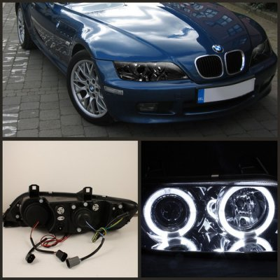 Bmw Z3 1996 2002 Smoked Dual Halo Projector Headlights