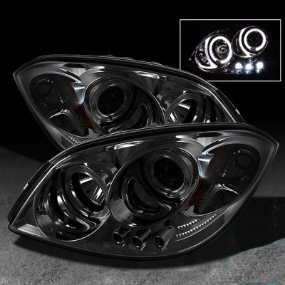 2008 Chevy Cobalt Smoked Halo Projector Headlights with LED