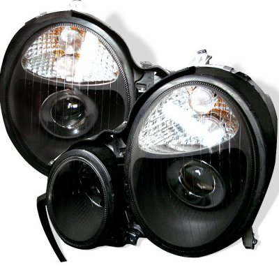 Mercedes Benz E Class 2000-2002 Black Projector Headlights