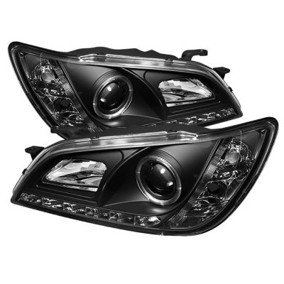 Lexus IS300 2001-2005 Black Halo Projector HID Headlights LED DRL