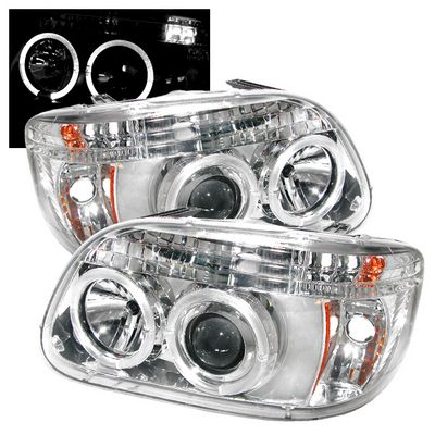 Ford Explorer 1995-2001 Clear Dual Halo Projector Headlights