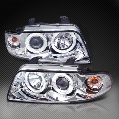 Audi A4 1996 1999 Clear Halo Projector Headlights