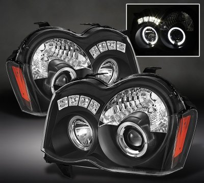 Jeep Grand Cherokee 2008 2010 Black Halo Projector