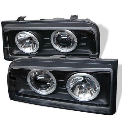 VW Corrado 1990-1995 Black Dual Halo Projector Headlights