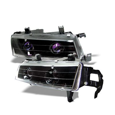 Honda Prelude 1992-1996 JDM Black Halo Projector Headlights