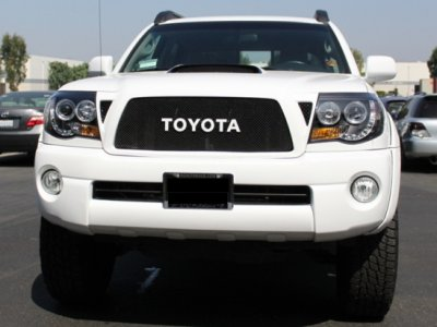 Toyota Tacoma 2005 2017 Black Dual Halo Projector Headlights Led Drl