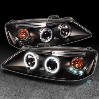 Pontiac G6 2005 2010 Black Ccfl Halo Projector Headlights
