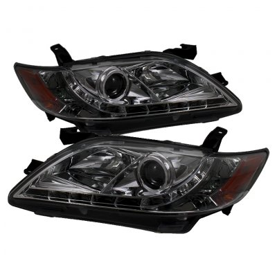 2008 Toyota Camry Smoked Projector Headlights with LED