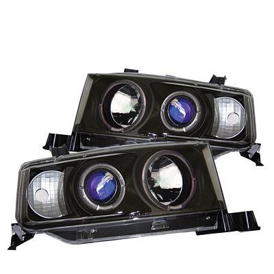 Scion xB 2004-2006 Black Dual Halo Projector Headlights
