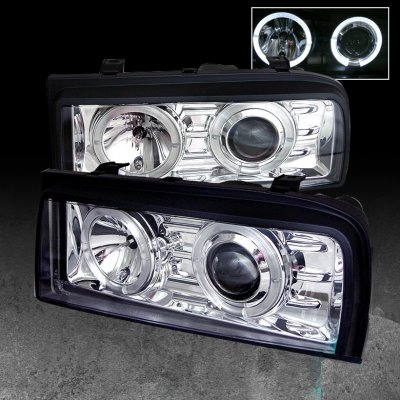 VW Corrado 1990-1995 Clear Dual Halo Projector Headlights