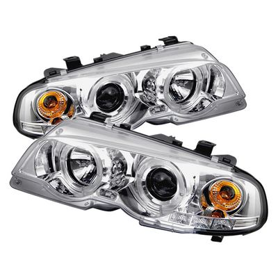 BMW E46 Coupe 2000-2003 Clear Dual Halo Projector Headlights
