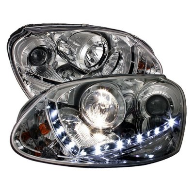 Vw Jetta 2005 2009 Clear Projector Headlights With Led Daytime Running Lights A103ex3u101 Topgearautosport
