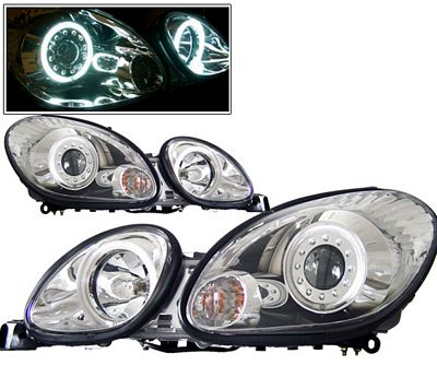 Lexus GS300 1998-2005 Clear Projector Headlights CCFL Halo
