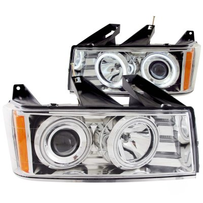 Chevy Colorado 2004-2013 Clear Projector Headlights with CCFL Halo