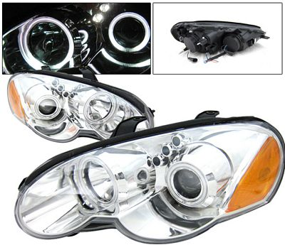Chrysler Sebring Coupe 2003 2005 Anzo Clear Dual Ccfl Halo Projector Headlights A11739qn101 Topgearautosport