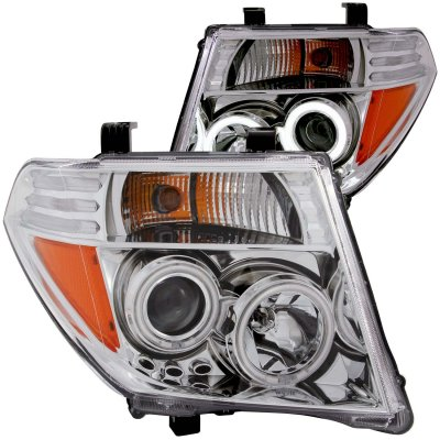 Nissan Frontier 2005-2008 Clear Projector Headlights with CCFL Halo