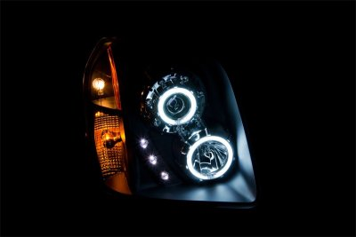 GMC Yukon 2007-2014 Black Projector Headlights CCFL Halo