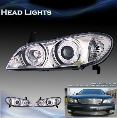 Infiniti I30 2000 2001 Clear Projector Headlights With Halo