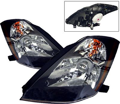 Nissan 350Z 2003-2005 Black Projector Headlights