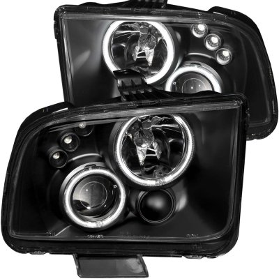 Ford Mustang 2005-2009 Black Projector Headlights CCFL Halo LED