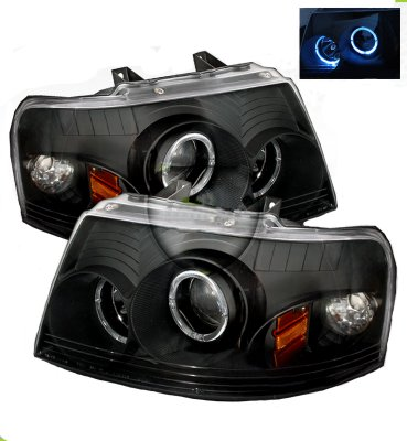 Ford Expedition 2003-2006 Black Dual Halo Projector ...