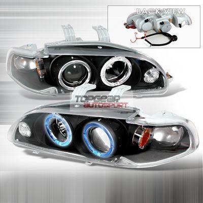 Honda Civic 1992-1995 Black Projector Headlights Halo