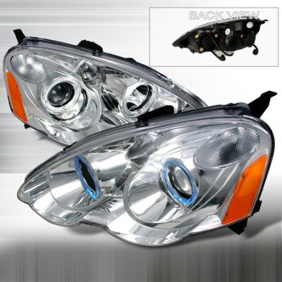 Acura RSX 2002-2004 Clear Projector Headlights with Halo