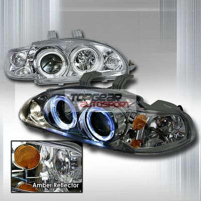 Honda Civic Sedan 1992-1995 Clear Projector Headlights Halo