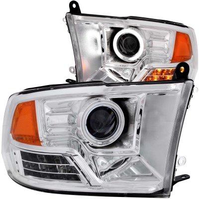 Dodge Ram 2009-2016 Projector Headlights Chrome CCFL Halo