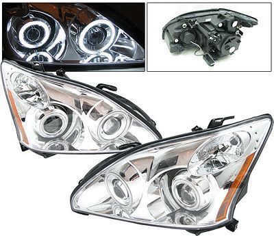 Lexus RX330 2004-2006 Anzo Clear Dual CCFL Halo Projector Headlights