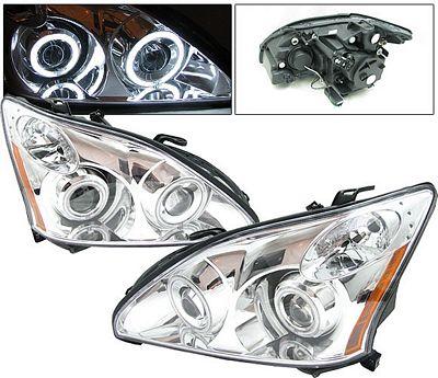 Lexus RX330 2004-2006 Anzo Clear Dual CCFL Halo Projector Headlights