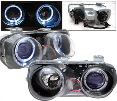 Acura Integra 1998 2001 Black Projector Headlights With