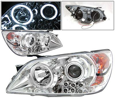 Lexus IS300 2001-2005 Chrome CCFL Halo Projector Headlights LED